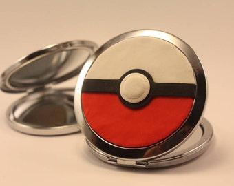 handmade purse mirror pokeball