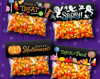 4 Printable Halloween Treat Bag Toppers | Read Full Listing Before Purchase