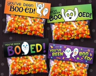 4 Printable Halloween You've Been Boo-ed Treat Bag Toppers | Digital, Printable Designs