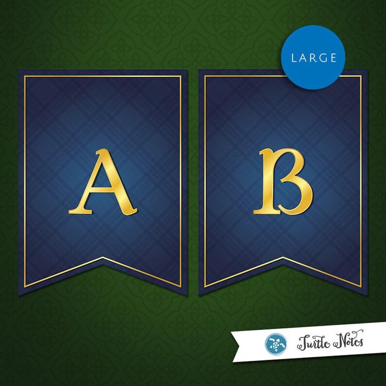 Large Brave Blue Banner :  Printable Banner All Letters 0-9 image 0