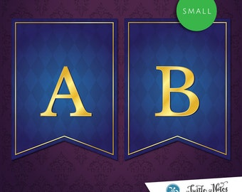 Small Beauty and the Beast Banner :  Printable Banner All Letters 0-9 numbers
