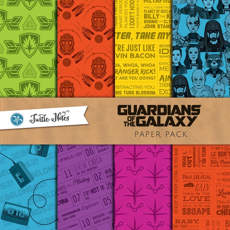 Guardians of the Galaxy Digital Paper Pack  12x12 image 0