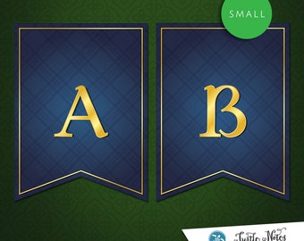 Small Brave Blue Banner :  Printable Banner All Letters 0-9 numbers
