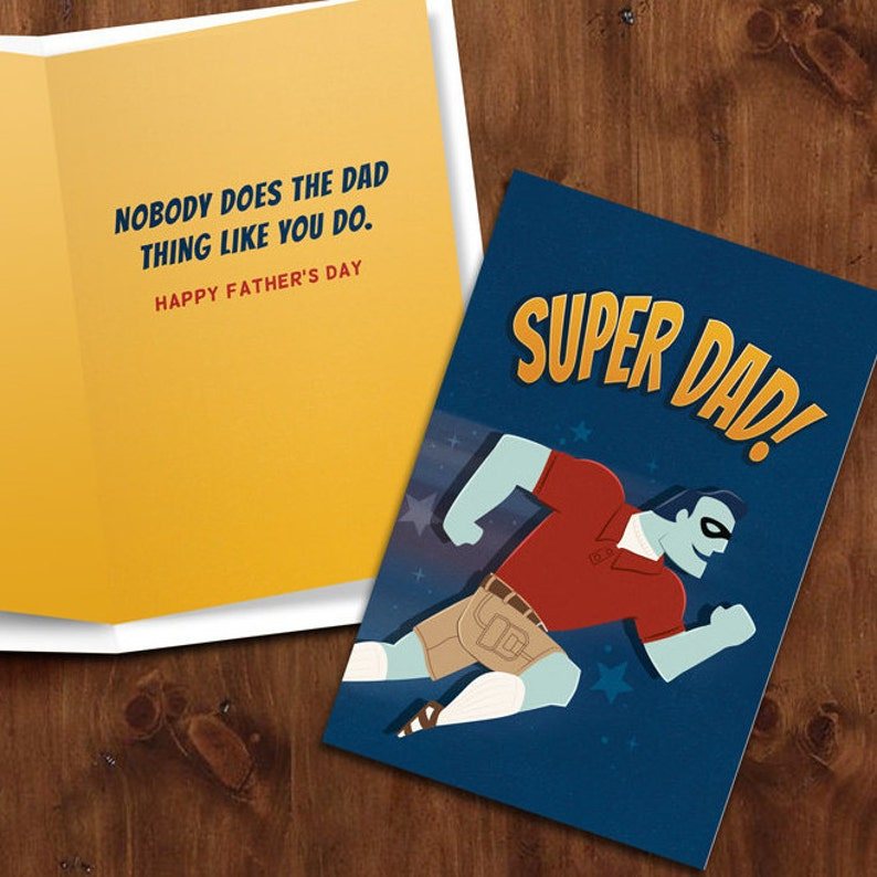 Super Dad    Super Hero themed Printable Father's Day image 0