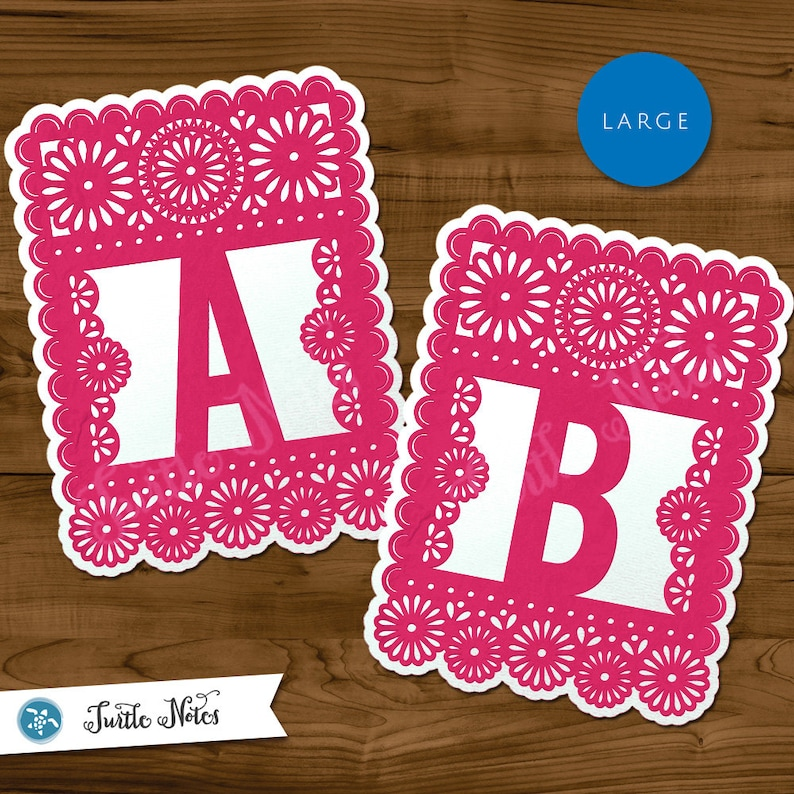 photograph about Papel Picado Printable titled Higher Crimson White Papel Picado : Printable Banner All Letters 0-9 quantities Reward Components