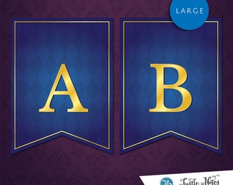 Large Beauty and the Beast Banner :  Printable Banner All Letters 0-9 numbers