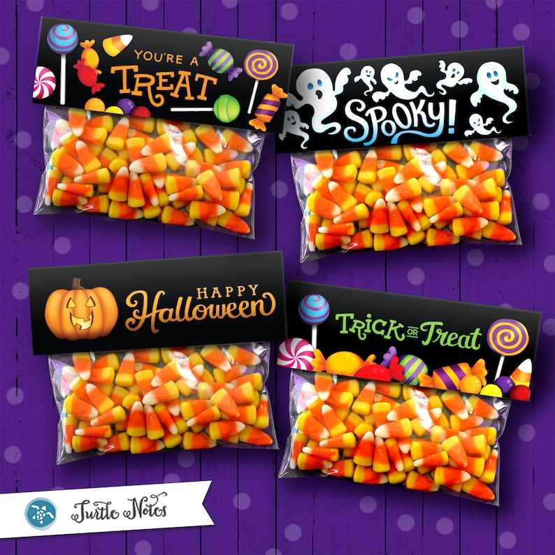 4 Printable Halloween Treat Bag Toppers  Read Full Listing image 0
