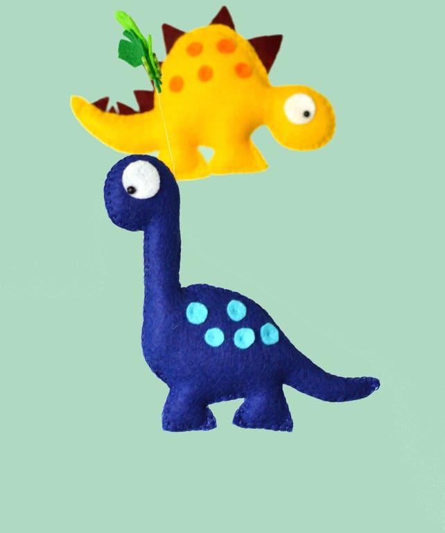 Dinosaurier-Mobile Baby / Kinderzimmer Filz Dinosaurier Mobile | Etsy