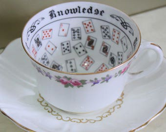 Fortune Telling Cup  c1930s. Aynsley Fine Bone China. Highly Collectable  Reg. No 702537