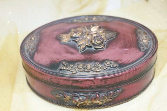 Golden Roses Jewellery Box.  Gorgeous Vintage  Gif