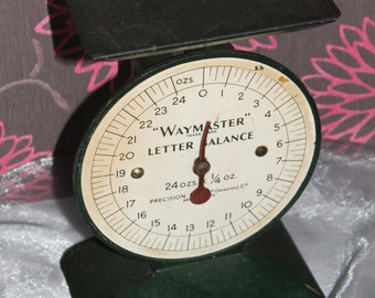 Letter Weighing Scales. Waymaster Letter Balance. Mid Century Office Collectable. c1950s Made in Reading, England.