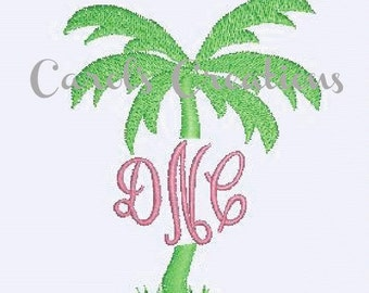 Instant Download/Palm Tree Embroidery/Palm Tree/Palm Tree Monogram/Palm Tree Download Design/Digital Download/Embroidery Designs/Beach