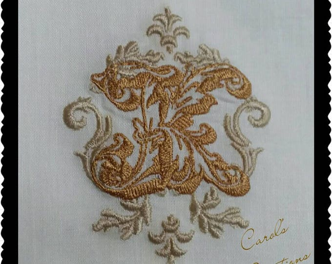 Featured listing image: Lisa Embroidery Font,instant download, machine embroidery, monogram font,embroidered frames,embroidery monogram,digital file,embroidery file