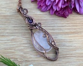 Rose Quartz with Amethyst: Divine Love & Peace