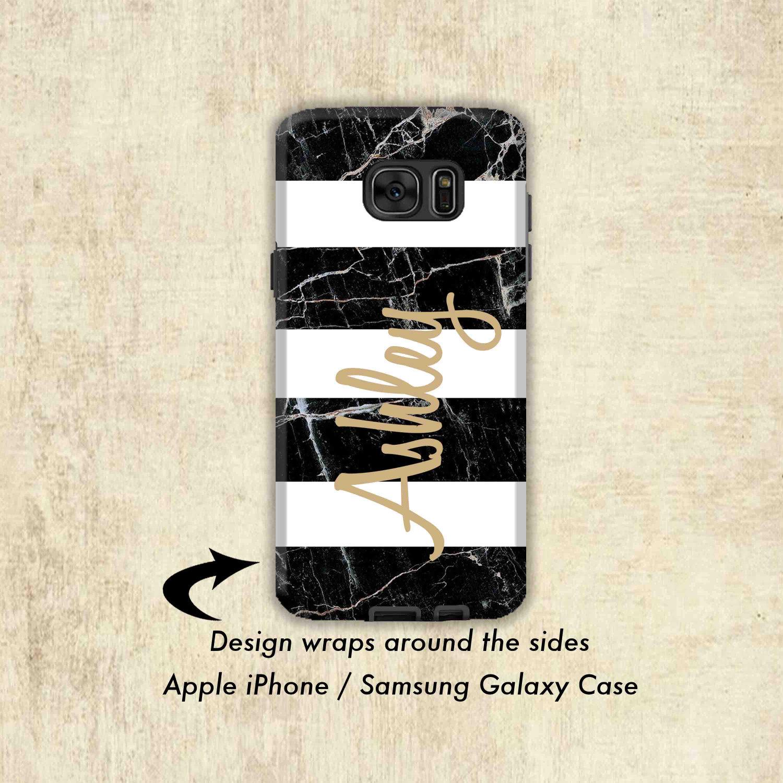 Schwarzer Marmor Galaxy S8 Fall Streifen aus Marmor Galaxy