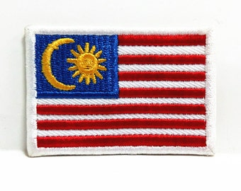 Brunei Flag Patch Iron Sew On Embroidered Badge Embroidery Applique Malay Melayu