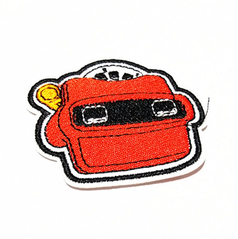 6 x 5.5 cm Kids Patch Red Robot Personality Style Embroidered Applique Iron on Cool Patch