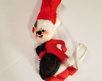 vintage annalee mobilitee santa mouse christmas mouse christmas decorations collectible - Annalee Christmas Decorations