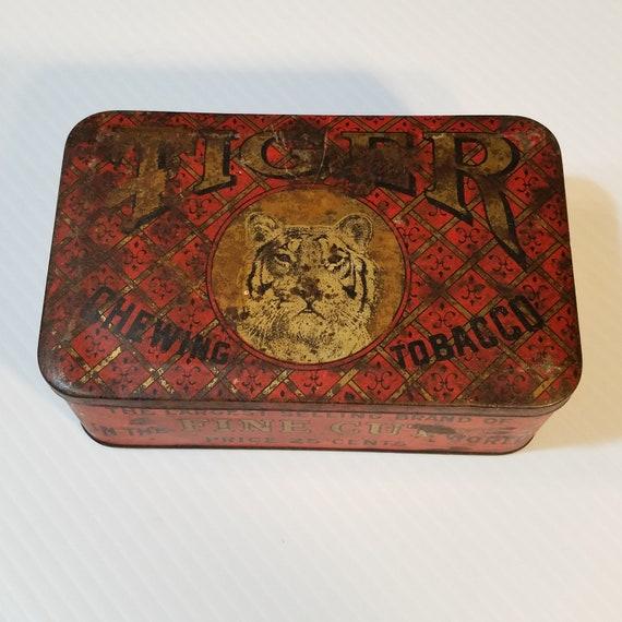 Vintage Tiger Brand Tin