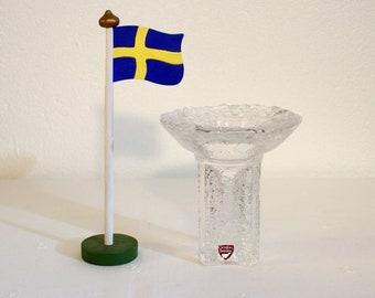 Olympic Torch Crystal Candle Holder - Orrefors Glassworks, Sweden