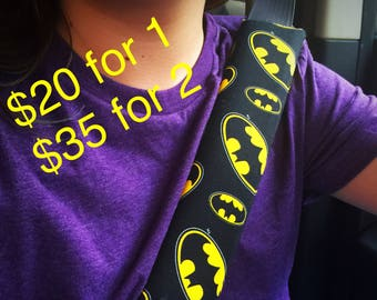 Free shipping Batman Print Cushioned Seat Belt Cover