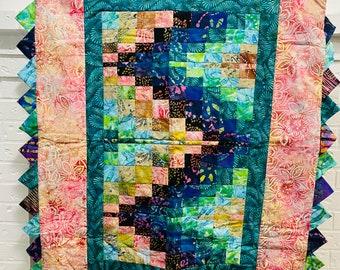 Colorful Batik Infant Baby Quilt