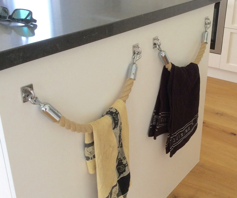 Seil Handtuchhalter Rack handgemachte Hempex Seil für