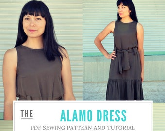 The Alamo Dress PDF sewing pattern