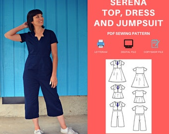 Sizes 04-16 Brice Knit Jumpsuit Style Arc Sewing Pattern