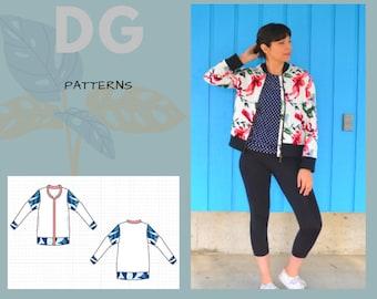 Inara Bomber Jacket PDF sewing pattern