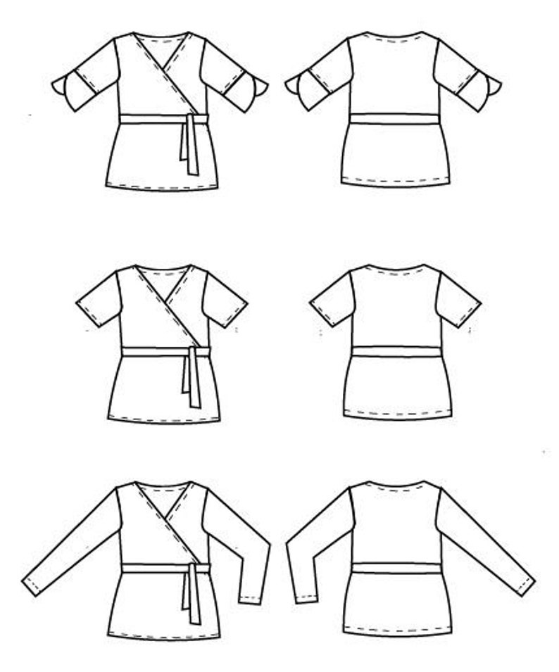 graphic relating to Printable Sewing Pattern known as Genie Knit Final Printable sewing habit and pdf sewing guideline for females, novice printable sewing routine for knit final, sweater in addition dimension