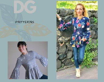 The Statement Top: Instant Download PDF top pattern for women