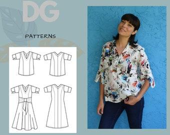 Nizar Top and Dress PDF digital sewing pattern and tutorial