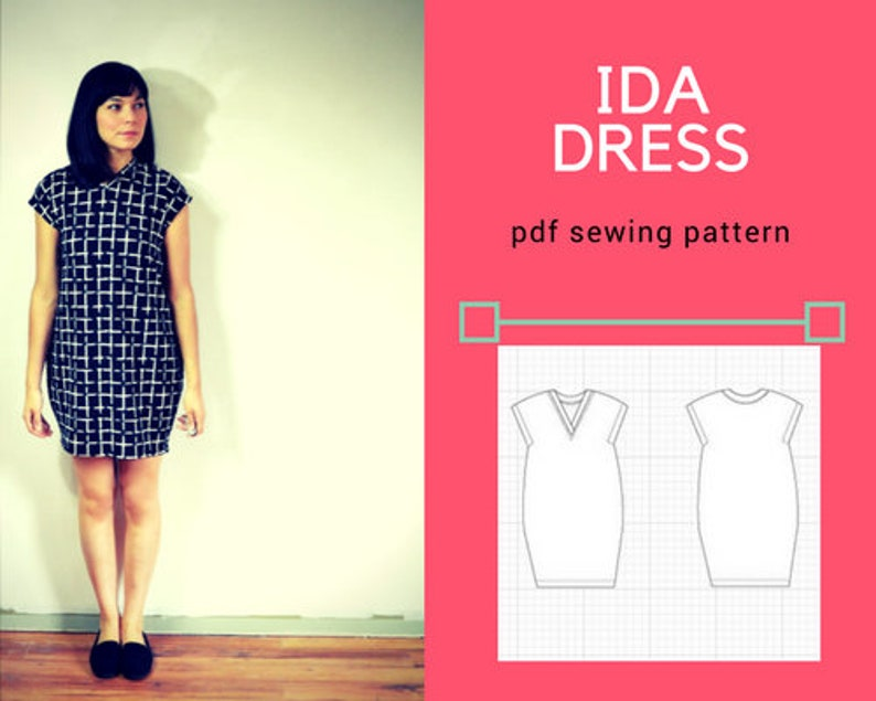 Ida Dress PDF printable sewing pattern and tutorial for women image 0