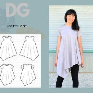 german PDF Sewing Pattern cropped Hoodie EBook Tutorial for Women sizes 34-56