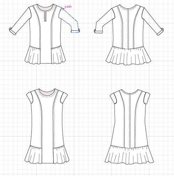 image relating to Printable Sewing Patterns titled The Luise Tunic and Costume PDF printable sewing habit and move by means of move sewing guidebook