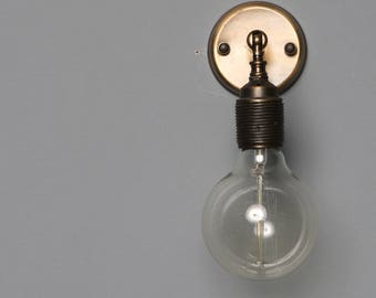 SIMPLE IND Wall sconce lamp light in industrial restoration style edisonGlobe Sconce Minimal Sconce Gold Wall Lamp Mid Century