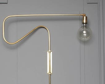 ELPIDA Wall sconce lamp light in industrial restoration style  edisonGlobe Sconce Minimal Sconce Gold Wall Lamp Mid Century