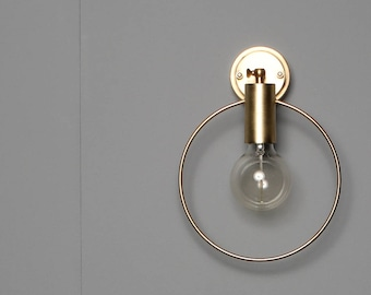 HOPE Minimal wall light lamp light in industrial restoration style edison black gold brass mounted