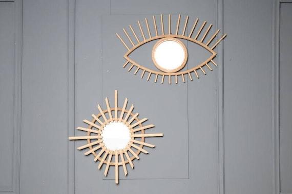 Spiegel Auge Mitte Des Jahrhunderts Franzosisches Design Wand Etsy