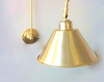 ENDRI Wall sconce lamp light in industrial restoration style  edisonGlobe Sconce Minimal Sconce Gold Wall Lamp Mid Century