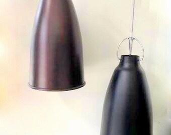 BELL Pendant lamp light in industrial restoration style Black ANTIQUE Copper EGST