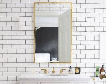 HOLLYWOOD Wall sconce lamp light in industrial restoration minimal style edison vanity mirror bathroom gold bronze