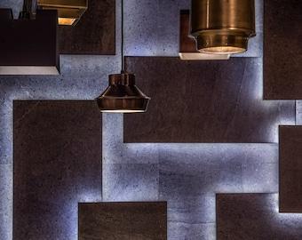 NOVA Pendant lamp light in industrial restoration style Black ANTIQUE Copper EGST