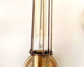 SIMPLE CAGE IND Wall sconce lamp light in industrial restoration style edison