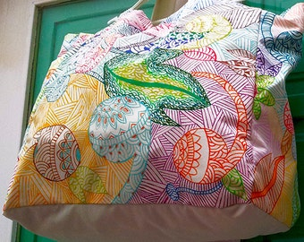 Custom bag Hand Painted Bag shopping bag beach bag
