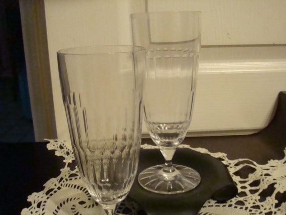 Set Of Wedgwood Crystal Buttermere Footed Ice Tea Glasses Etsy