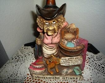 Housework Stinks Cowgirl Figurine