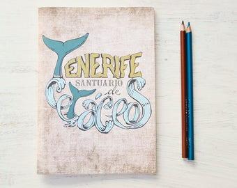 Santuario de cetáceos, bocetos, agenda. Para amantes del mar - ballenas, cetáceos, delfines, oceanos - Acuario natural