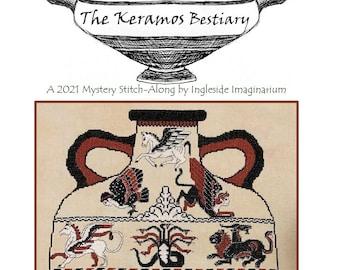The Keramos Bestiary -  2021 Mystery Stitch Along - Cross Stitch Pattern - INSTANT PDF DOWNLOAD